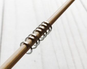 Set of 50 SMALL Snag Free Round Ring Knit Stitch Markers - Knit Markers Round - Crochet Markers Ring