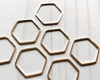 Set of 10 LARGE Snag Free Hexagon Bee Hive Honeycomb Ring Knit Stitch Markers - Knit Markers Honeycomb - Crochet Markers Honeycomb