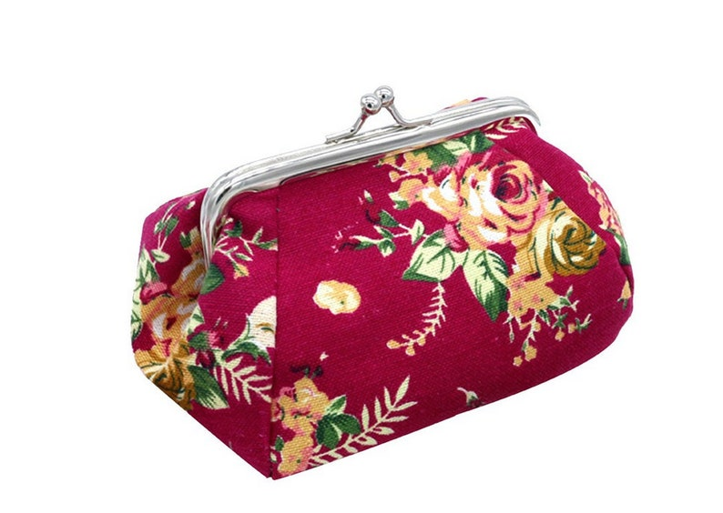 Crochet Notions Holder Small Floral Notions Bag with Vintage Details Sewing Notion Keeper Knit Notions Case Craft Organization