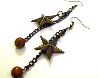 Intergalactic- Vintage Star & Gemstone Earrings