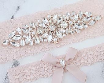 Rose Gold Garter Rose Gold Vine Wedding Gift Bridal Garter Bridal Shower Gift Garter Rose Gold Wedding Garter Gift For Her