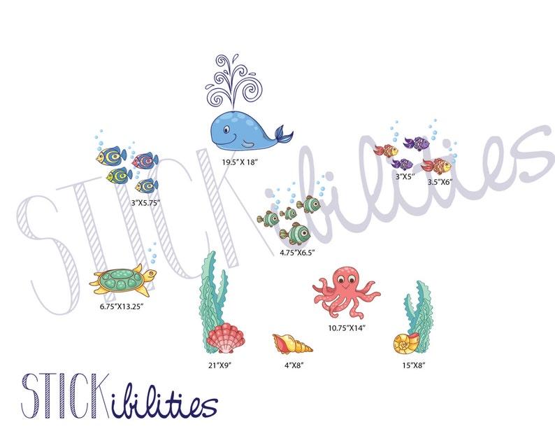 Ocean Stickers Nursery Wall Decals Ocean Theme Nursery ...