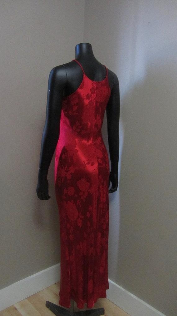 1990s red slip dress | 90s minimalist - image 4
