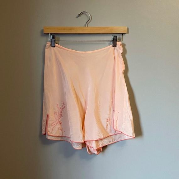 1940s peach silk tap panties • 30's 40's lingerie
