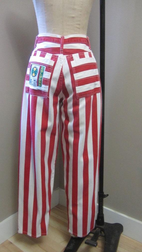 vintage Cross Colours striped jeans | 90s rare vi… - image 4