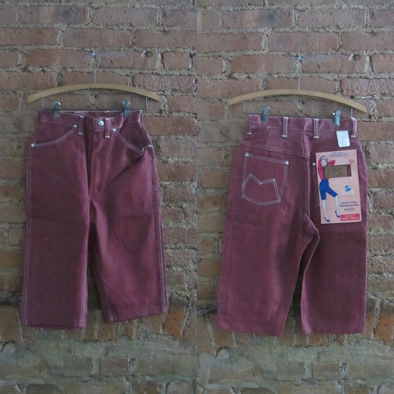 1960s Maverick sanforized denim clamdiggers