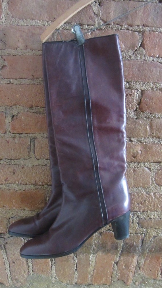 1970s leather boots | 70's Studio 54 disco boho r… - image 3
