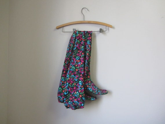 1960s RARE psychedelic paisley Pan-T boots | 60's