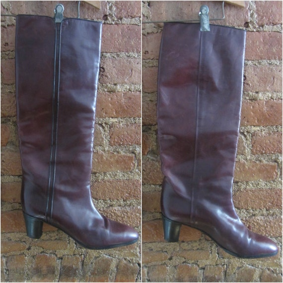 1970s leather boots | 70's Studio 54 disco boho r… - image 4