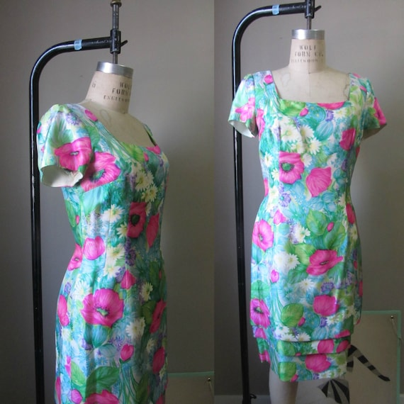 1960s Mr. Blackwell floral dress | 50's 60's Mid C
