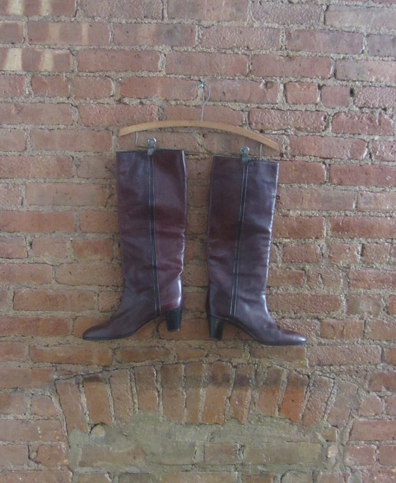 1970s leather boots | 70's Studio 54 disco boho ru
