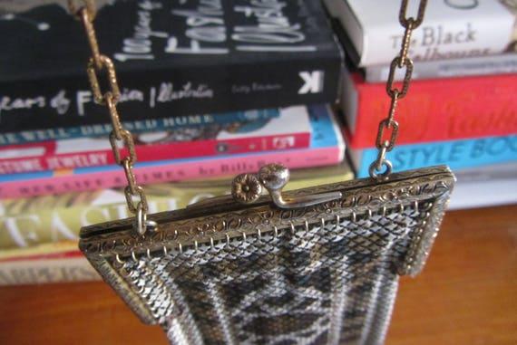 1920s Mandalian mesh purse • Antique 20s art deco… - image 9