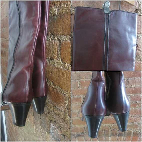 1970s leather boots | 70's Studio 54 disco boho r… - image 5