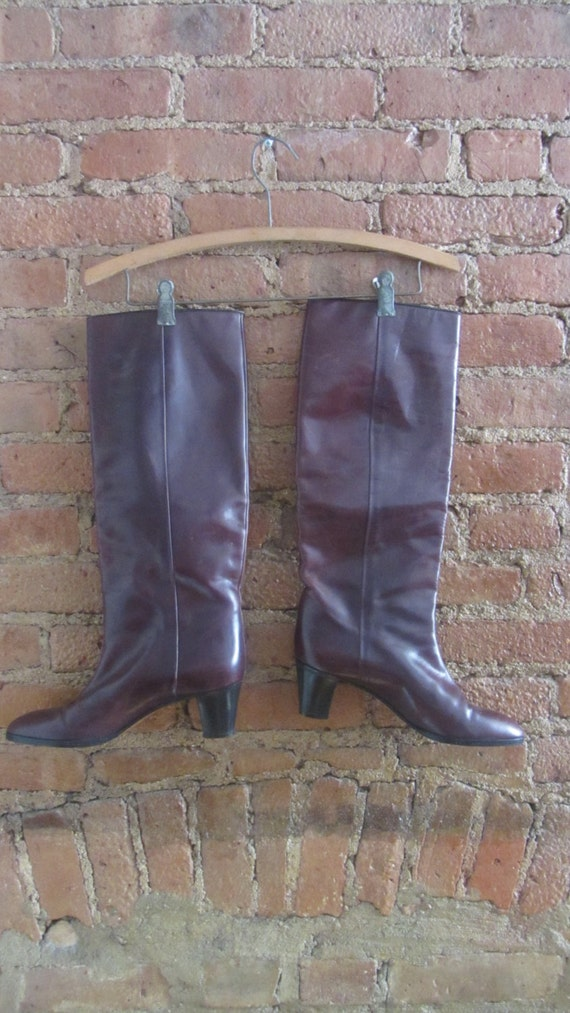 1970s leather boots | 70's Studio 54 disco boho r… - image 2