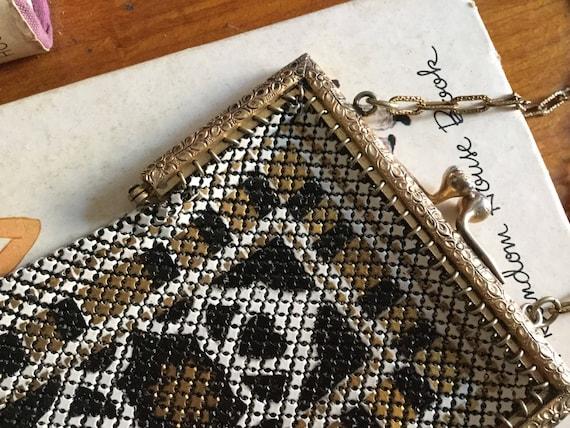 1920s Mandalian mesh purse • Antique 20s art deco… - image 5