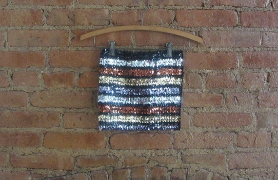 1970s metallic sequin disco tube top | 70's Disco