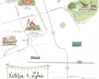 Made to Order - Custom Illustrated Wedding Map