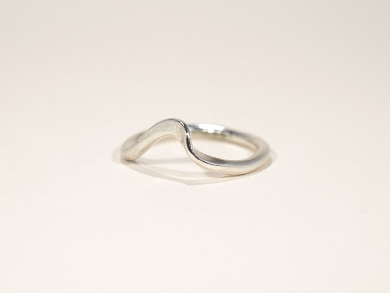 Art Nouveau Style Ring  Silver Ring  Formed Ring image 0