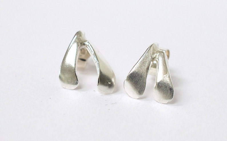 Mistletoe Earrings  Mistletoe Stud Earrings  Silver image 0