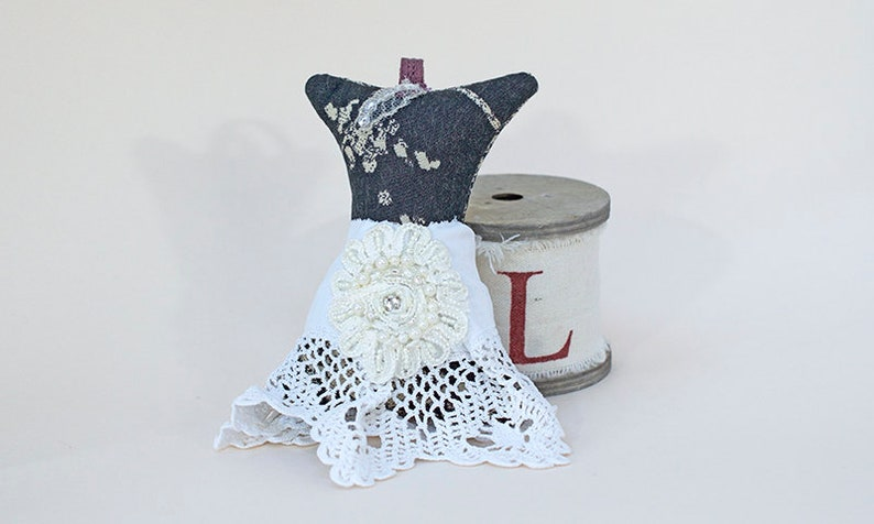 Woodland Fairy Dress  Handmade Scented Decorations  Handmade image 0