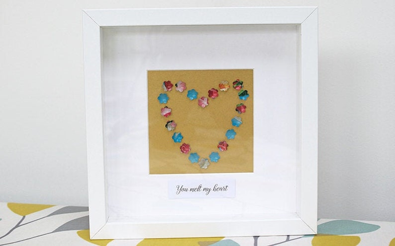 Heart Picture  Valentines Picture  Tin Heart Picture  Metal image 0