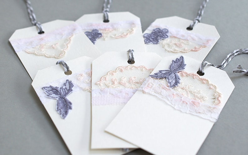 Gift Tags  Handmade Gift Tags  Handmade Labels  Vintage image 0