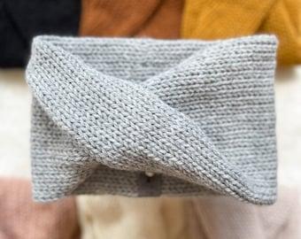 WOOL Blend Twist Headband - Women's Headband, Women's Winter Accessories, Knit Headband, Ear Warmer - Adult - READY to SHIP
