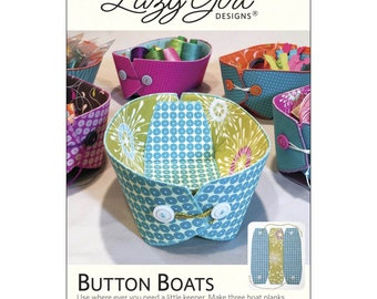 Lazy Girl Design Button Boats Pattern & Stiff Stuff
