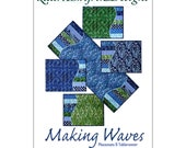 Making Waves Placemats Tablerunner, Pattern by Laurie Shifrin Designs