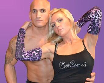 Fashion Arm Sleeve, Arm Warmer, with Wrist Shirring in Leopard