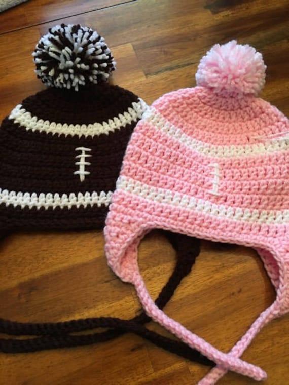 3d08e7ac13a Crochet Football Hat
