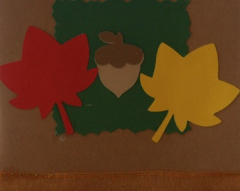 Set of 10 Fall Leaves Cards