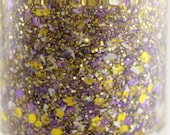 Interception - Purple Yellow White Team Spirit Glitter Nail Polish Vikings LSU colors 5 free nail polish vegan cruelty free handmade