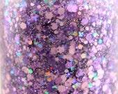 Sugarplum- Iridescent Glitter Nail Polish Holographic Purple Pink glitter nail 5 free nail polish handmade nail polish indie nail polish