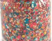 Coral Reef - Coral, Peach, Aqua, Turquoise Glitter Nail Polish, beach nails,  5 free nail polish, handmade, indie polish vegan