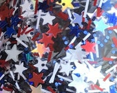 Stars & Stripes - Red White Blue Silver, Glitter Nail Polish, star glitter topper, flag nail polish, July 4th, America, USA