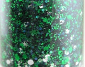 Field Goal - Green Black White Glitter Nail Polish Team Spirit 5 free nail polish handmade indie nail polish vegan cruelty free nail polish