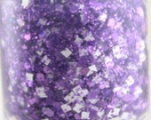 Huddle Up - Glitter Nail Polish Purple and White Team Spirit 5 free nail polish handmade indie nail polish purple glitter nail polish