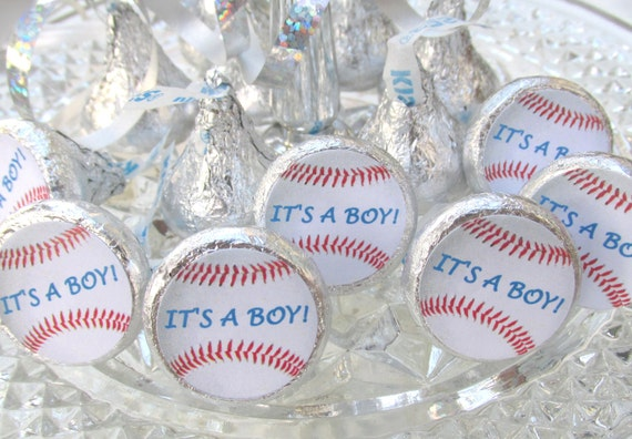 Baseball Sports Baby Shower Its A Boy Party Favors Stickers Etsy