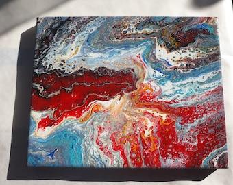 8x10 Canvas Paint Pour