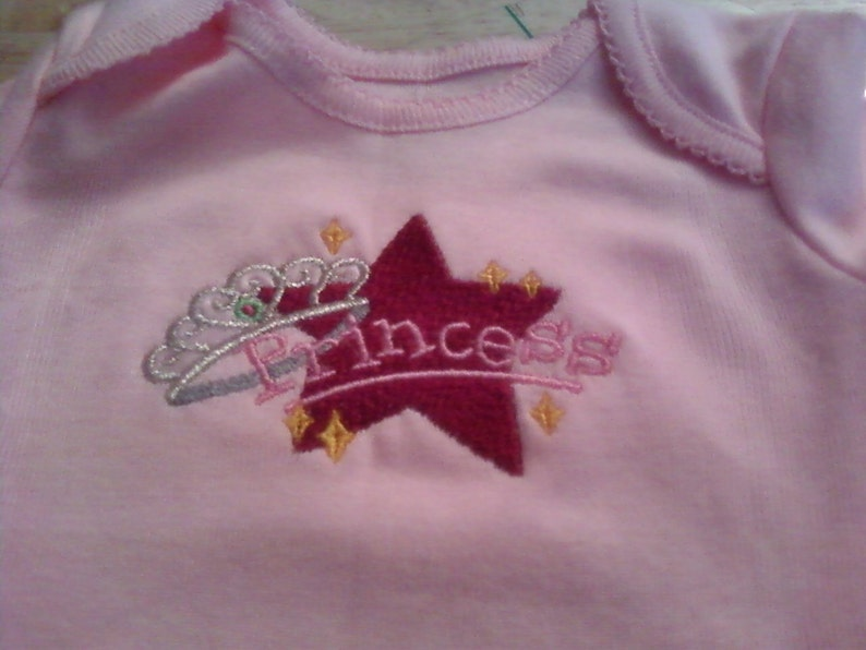 Princess Onesie with matching bibs socks and floral headband