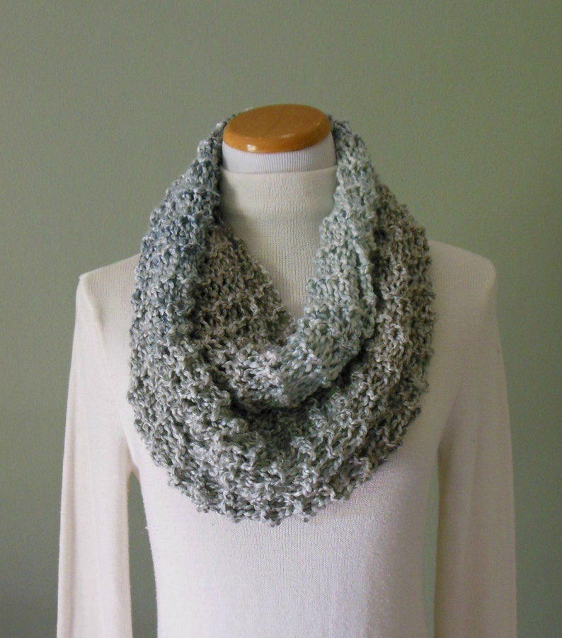 Hand Knit Fashion Infinity Scarf Circle Loop Scarf in Varying image 0