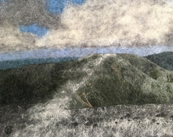 The Tableland - Original Felted Wool Art from Mount Katahdin in Baxter State Park on the Appalachian Trail in Maine