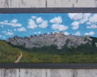 The Last Ridgeline - Original Art, Needle-Felted Wool Landscape from the Rocky Mountains along the Colorado Trail
