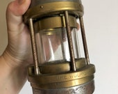 Miner 39 s Railway Post office Lamp paraffin davy lamp The Wolf brass and steel