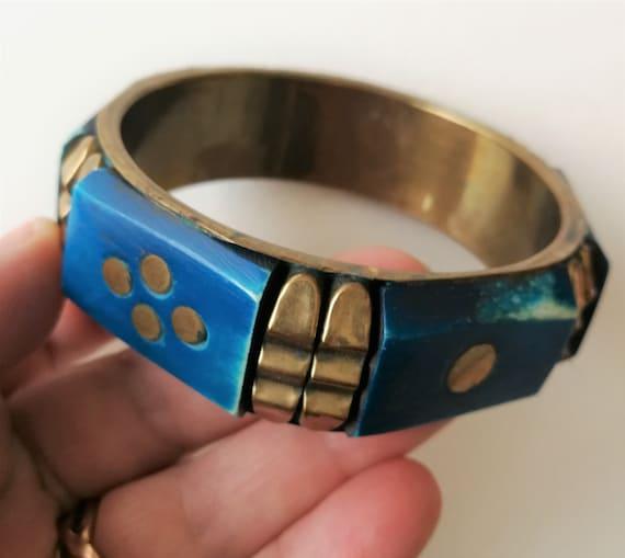 RETRO jewelry plastic bangle Green Bangle Pinup Jewelry Bangle Set of three,Blue Bangle Vintage Bangles Set Blue Bracelet