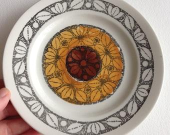 Vintage Kathie Winkle Broadhurst ironstone tea plate TASHKENT pattern