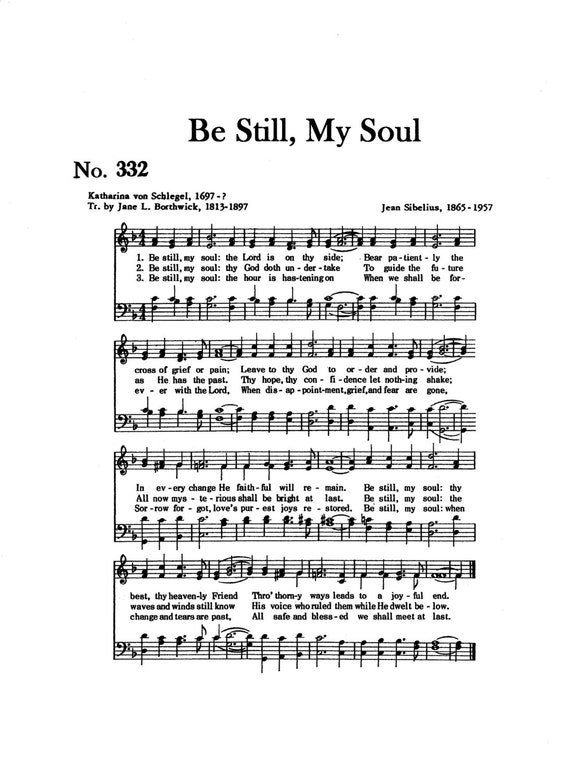 Be Still My Soul Hymn Digital Sheet Music Christian Faith Gift Etsy