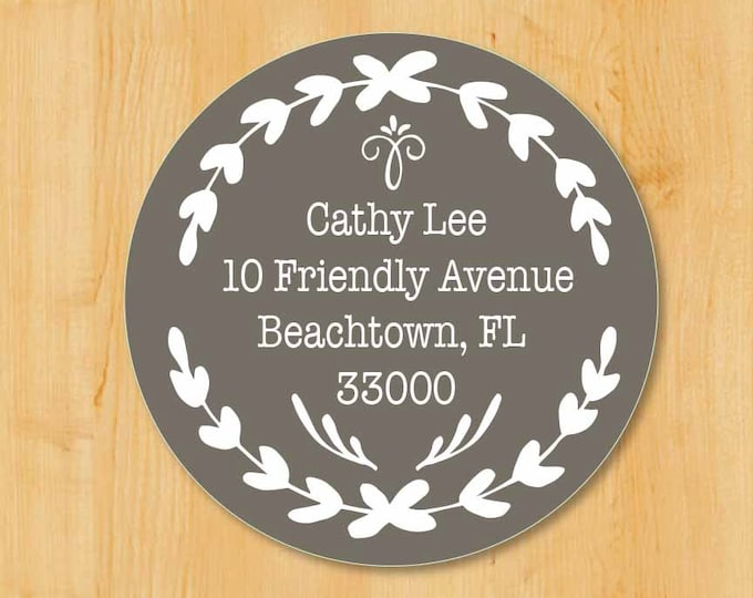 Return Address Sticker | Custom Stickers | Round Address Label | Save The Date Labels | Wedding Invitation Labels | Bridal Shower Labels