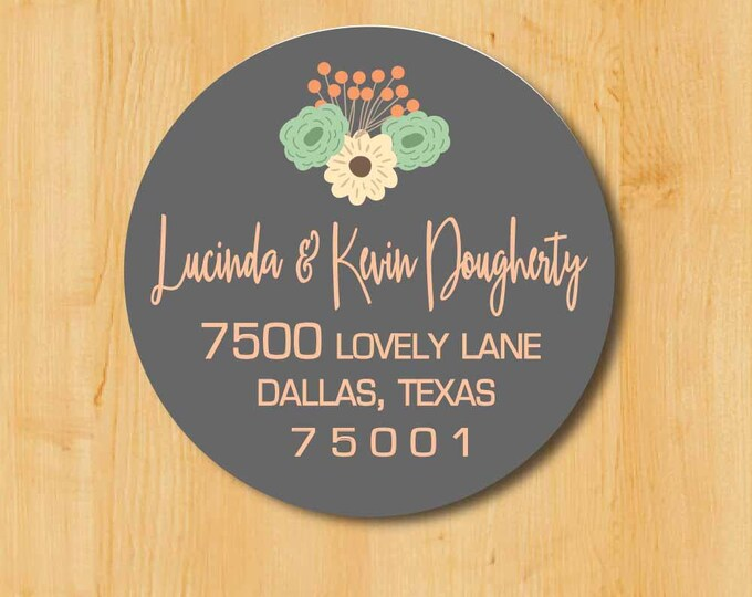 Return Address Sticker | Custom Stickers | Personalized stickers | Round Address Label | Gift for her